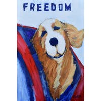 Freedom' Painting Print on Wrapped Canvas - White