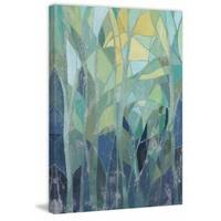 Stained Glass Forest I' Painting Print on Wrapped Canvas - Green