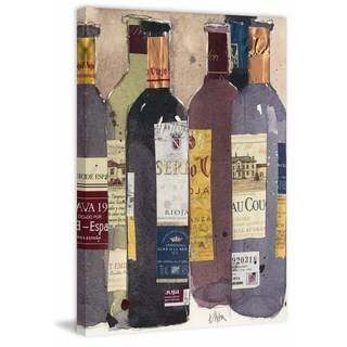 Red Wine Tasting II' Painting Print on Wrapped Canvas