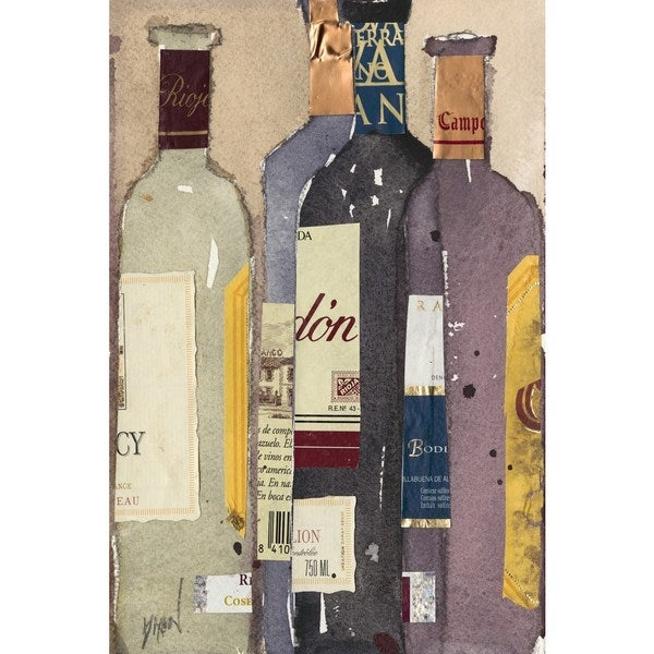 Red Wine Tasting I' Painting Print on Wrapped Canvas