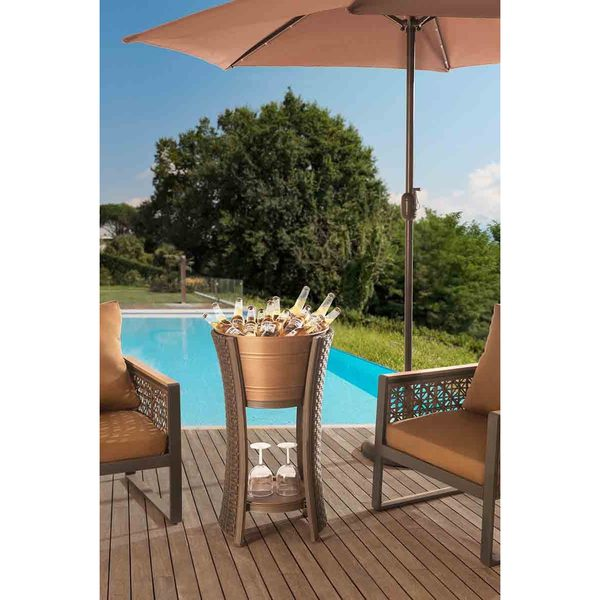 Antigua Beverage Tub, Tray and Stand