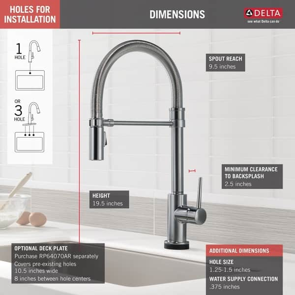 Delta Single Handle Pull Down Spring Spout Kitchen Faucet With Touch2o Technology Overstock 15872746
