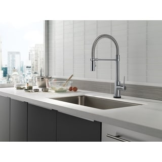 delta trinsic 9659tardst arctic stainless pullout spray single hole kitchen faucet