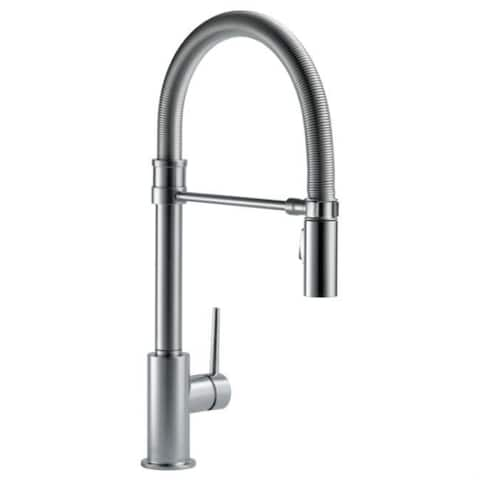 Delta Single Handle Pull-Down Kitchen Faucet with Spring Spout