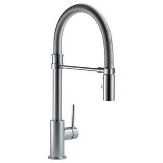 Delta Trinsic Pullout Single-Hole Kitchen Faucet 9659-AR-DST Arctic Stainless
