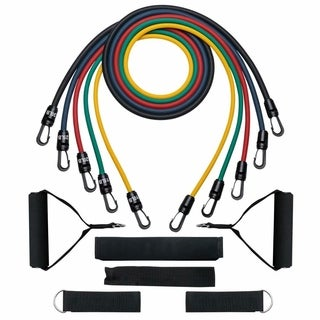 Resistance Band Set, Exercise Band Kit, Fitness Tubes, with Door Anchor, Ankle Straps, Workout Guide, Carrying Pouch|https://ak1.ostkcdn.com/images/products/15872752/P22280620.jpg?_ostk_perf_=percv&impolicy=medium