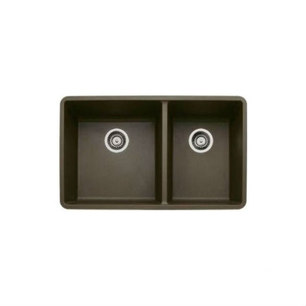 Blanco Precis 441129 Cafe Brown Granite 1-3/4 Bowl Undermount ...