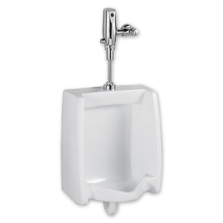 American Standard Washbrook 1.0 gpf Washout Top Spud Urinal with Selectronic Battery Flush Valve System 6501.610.020
