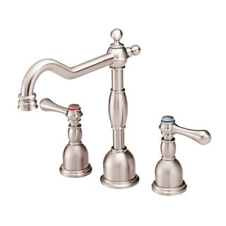 Danze Opulence 2H Mini-Widespread Lavatory Faucet w/ Metal Touch Down Drain 1.2gpm Brushed Nickel
