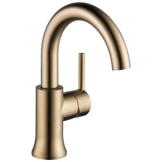 Delta Trinsic: Single Handle High-Arc Lavatory Faucet Champagne Bronze