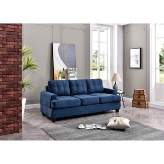 LYKE Home Suede Tufted Sofa