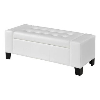 Crawford and Burke Wallace White and Brown Storage Bench