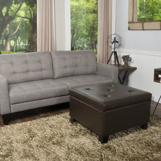 Crawford and Burke Patton Storage Ottoman