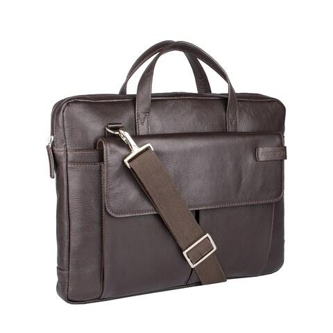 Hidesign Travolta Medium Leather Laptop Messenger Bag