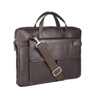 Hidesign Travolta Medium Leather Laptop Messenger Bag
