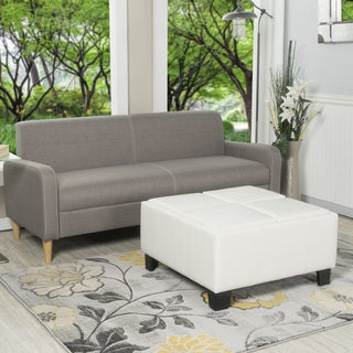 Crawford and Burke MacAuthur Storage Ottoman