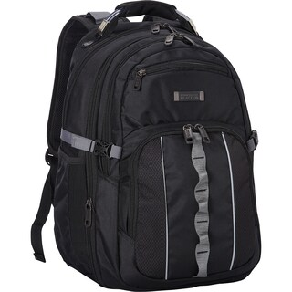 Kenneth Cole Reaction 1680D Polyester Multi-Pocket Compact Expandable 17.3-inch Computer Business Backpack with Anti-theft RFID (2 options available)