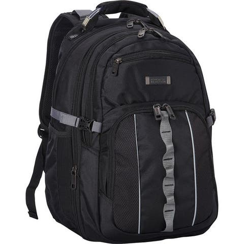 Kenneth Cole Reaction 1680D Polyester Multi-Pocket Compact Expandable 17.3-inch Computer Business Backpack with Anti-theft RFID