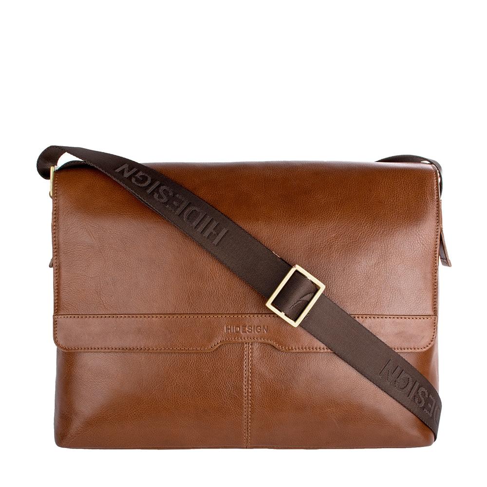Hidesign Helvellyn Medium Leather Messenger Bag (Tan), Si...