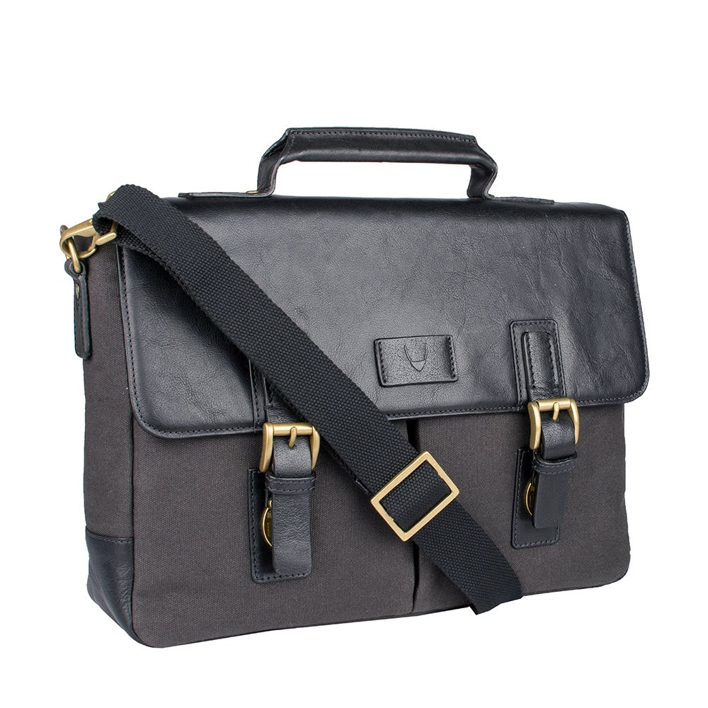 Hidesign Bedouin Medium Canvas and Leather Messenger Brie...