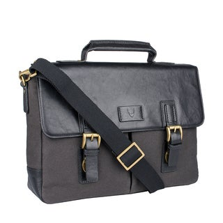Hidesign Bedouin Medium Canvas and Leather Messenger Briefcase