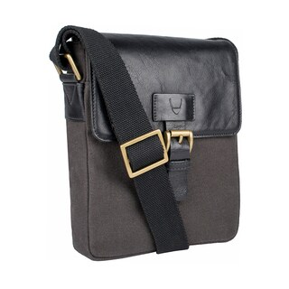 Link to Hidesign Bedouin Small Canvas and Leather Crossbody Messenger Bag Similar Items in Travel Accessories