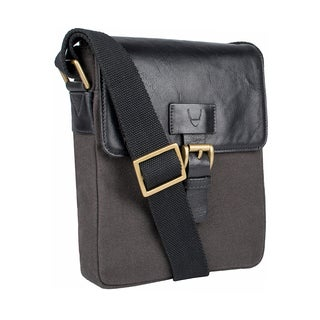 Hidesign Bedouin Small Canvas and Leather Crossbody Messenger Bag