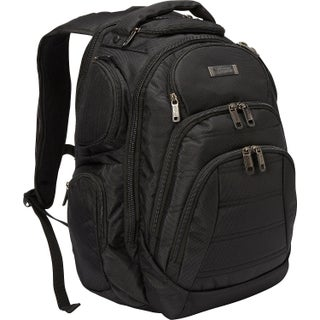 Kenneth Cole Reaction Triple Compartment Multi-Pocket 17-inch Laptop Business Backpack (Option: Black)