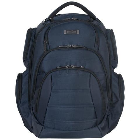 04852f8b438e Kenneth Cole Reaction Triple Compartment Multi-Pocket 17-inch Laptop &  Tablet Business Backpack