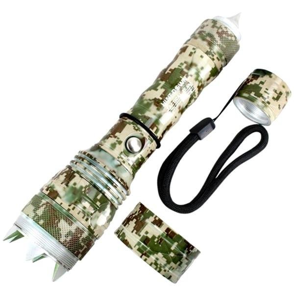 Hunt-Down 500 Lumens Digital LED Tactical Safety Flashlight - Light Desert Camo
