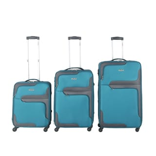 InUSA 3D-City 3-piece Lightweight Expandable Spinner Luggage Set
