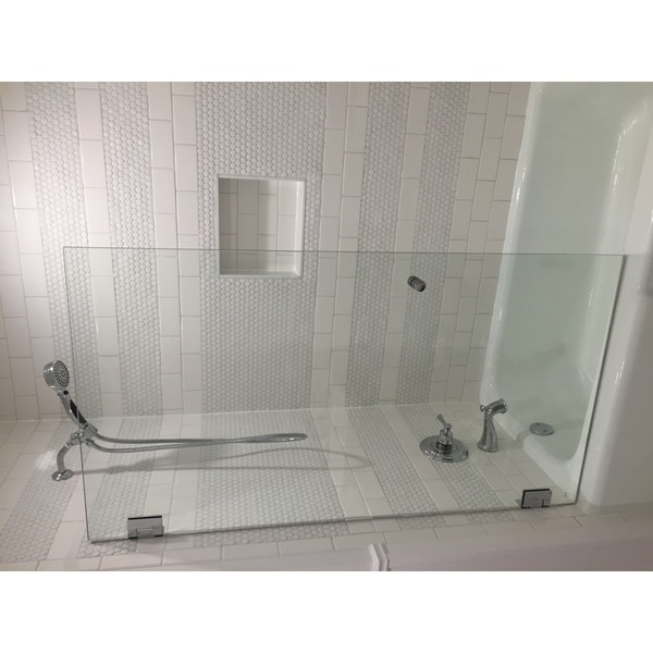 Shop Glass Warehouse Clear Glass Frameless Shower Bath Door - Free ...