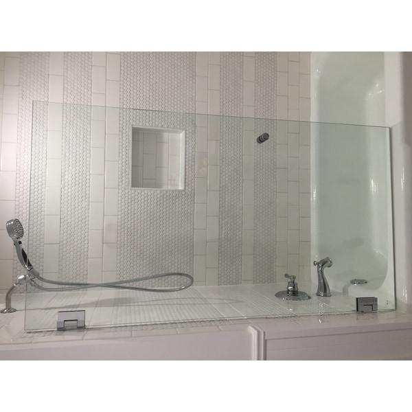 Shop Glass Warehouse 59 Inch X 315 Inch Frameless Shower Bath Door