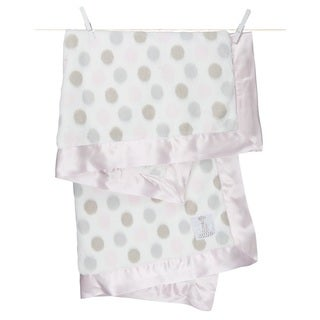 Little Giraffe Pink Luxe Dot Baby Blanket