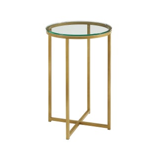 16-inch Round Side Table (Option: Gold)