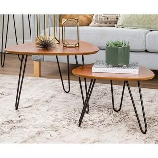 Carson Carrington Arendal Hairpin Leg Walnut Wood Nesting Coffee Table Set  sc 1 st  Overstock & Nesting Tables Living Room Furniture For Less   Overstock
