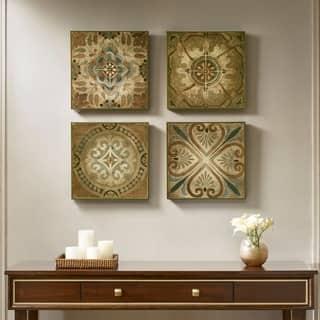 Madison Park Bella Blue Tiles Multi Deco Box 4 Piece Set