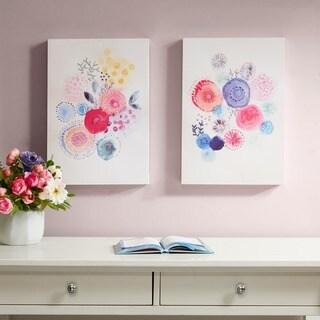 Intelligent Design Sweet Candy Garden Multi Gel Coated Canvas 2 Piece Set