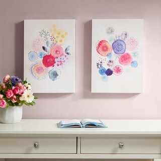 Intelligent Design Sweet Candy Garden Multi Gel Coated Canvas 2 Piece Set