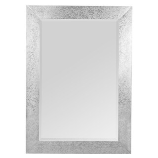 Kelly Silvertone Metal Rectangle Wall Mirror