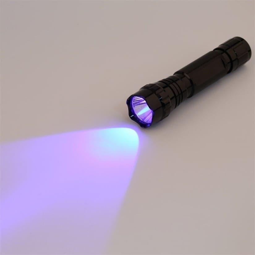 UV Blacklight Flashlight Aluminum Lamp Portable (Flashlig...