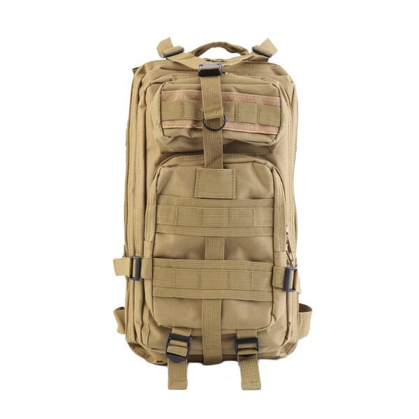 Men's Canvas Laptop Backpack (Beige)