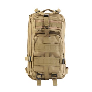 Men's Canvas Laptop Backpack (Beige)