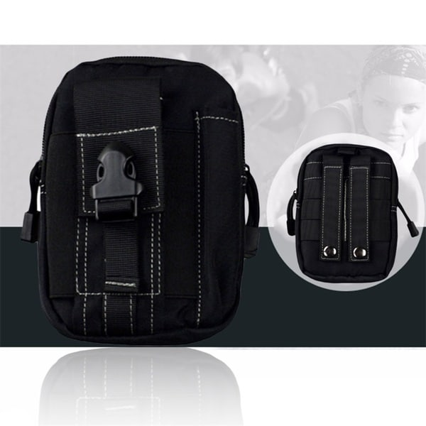 5.5/6 inch Outdoor Tactical Sport Multifuctional Waist Pack (Black)