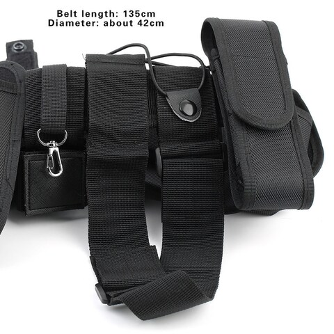 Military Nylon Men Tactical Waist Belt (Black)
