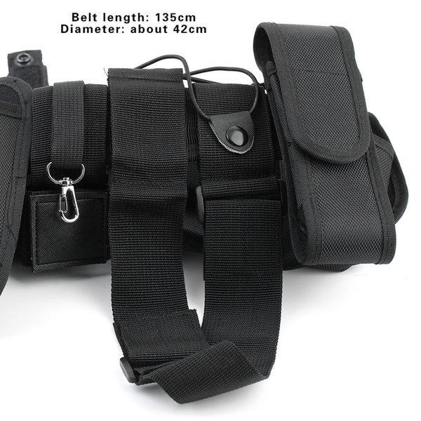 Military Nylon Men Tactical Waist Belt (Black)