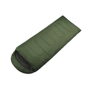 Large Single Warm Soft Adult Waterproof Sleeping Bag (Green)