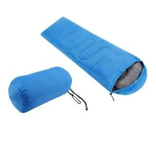 Large Single Warm Soft Adult Waterproof Sleeping Bag (Blue)
