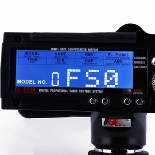 FS-GT3B 2.4G 3CH RC Boat Control Gun Transmitter with TX Receiver