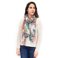 Zodaca Multi-color Fashion Women Ladies Lightweight Elegant Parrot Bird Print Scarf Shawl Wrap for Women